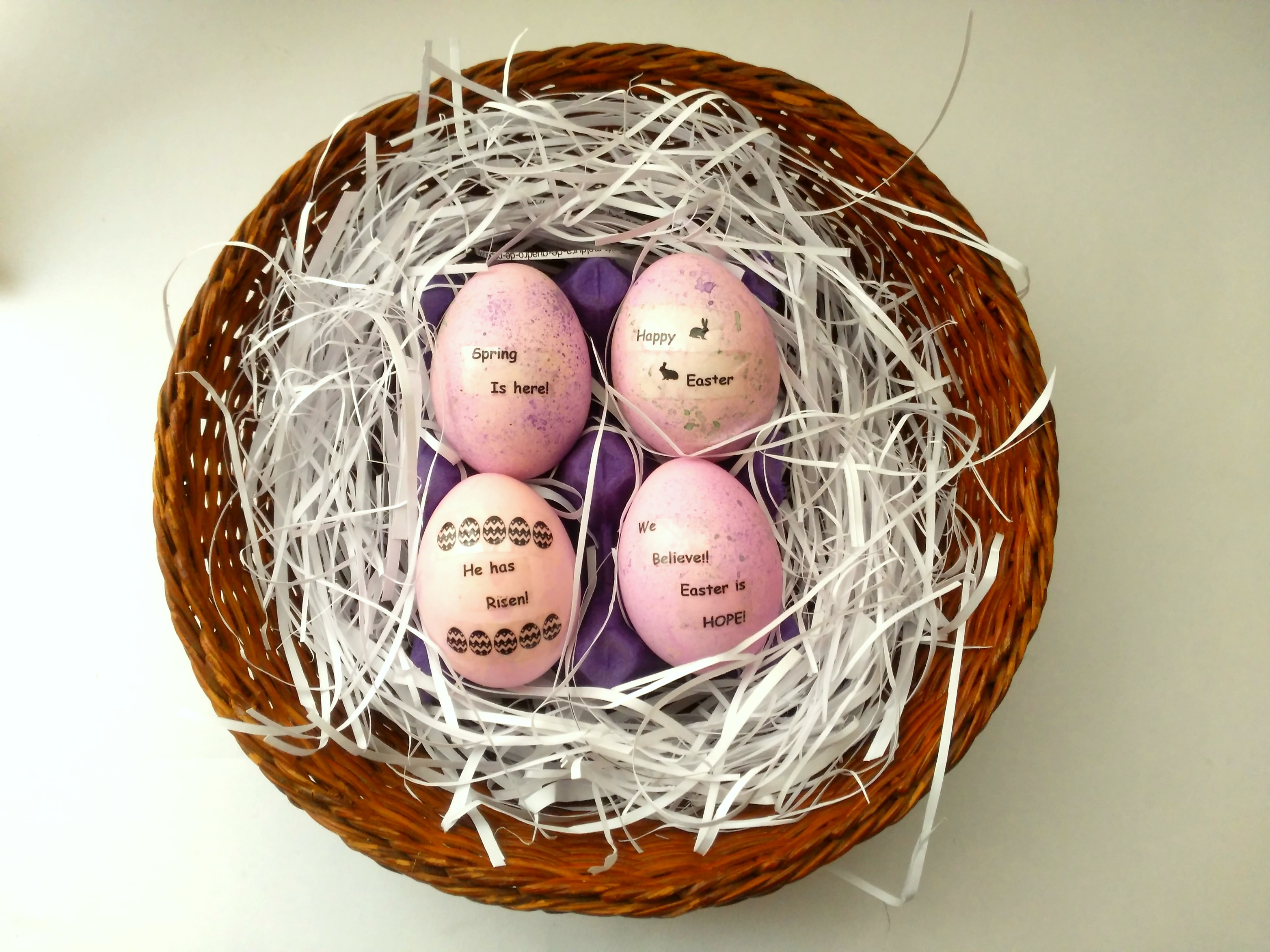 DIY Dyed and Labelled Easter Eggs